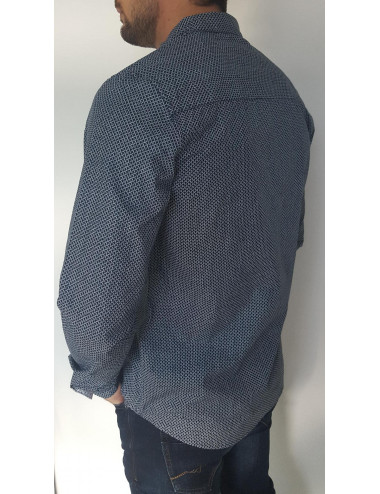 Chemise Marine à petits motifs