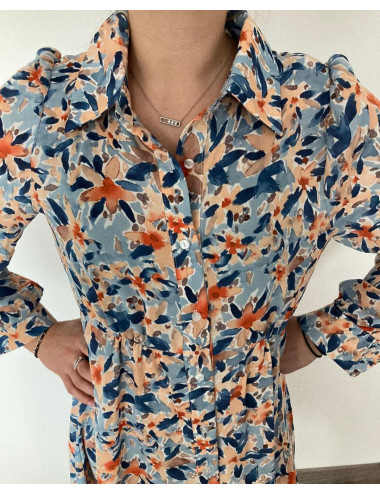 Robe chemise fleurie