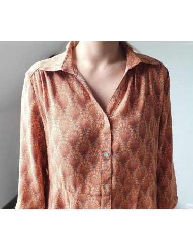 Robe chemise motifs arabesques