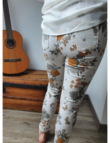 Jeans skinny Fleuri